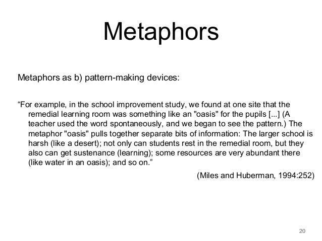 Similiar High School Level Metaphors Keywords