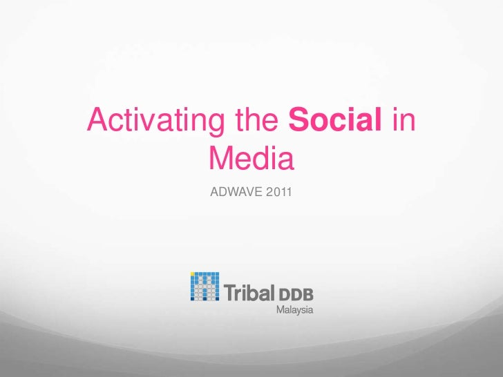 Activating the Social in Media<br />ADWAVE 2011<br />