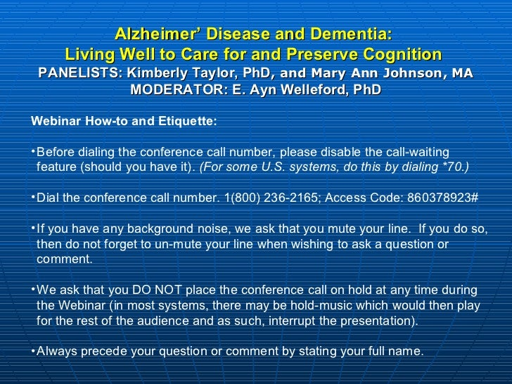 Ad webinar diet and exercise to prevent cognitive decline