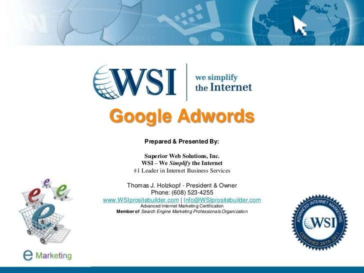 Adwords Business Presentation - Pay-Per-Click Basics