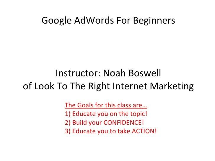 Adwords Presentation
