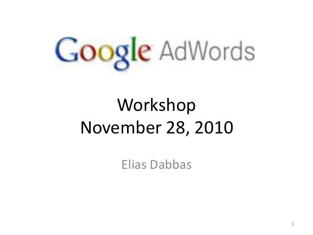 Adwords training social media forum 2010