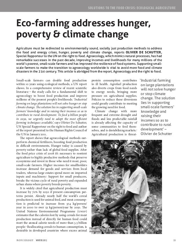 33Pacific Ecologist  Winter 2012 Eco-farming can feed Africa and the world. Nourishing the planet Small-scale farmers can ...