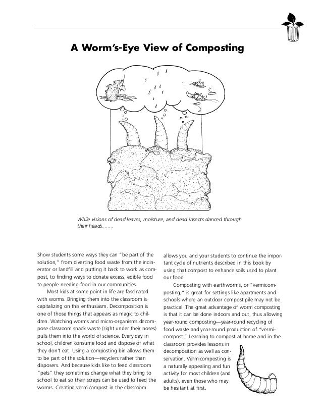 A Worm's-Eye View of Composting