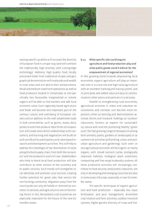 Organic food research paper