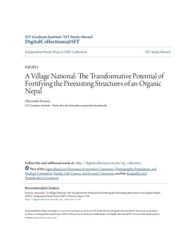A Village Saved: The Transformative Potential of Organic Agriculture in Nepal