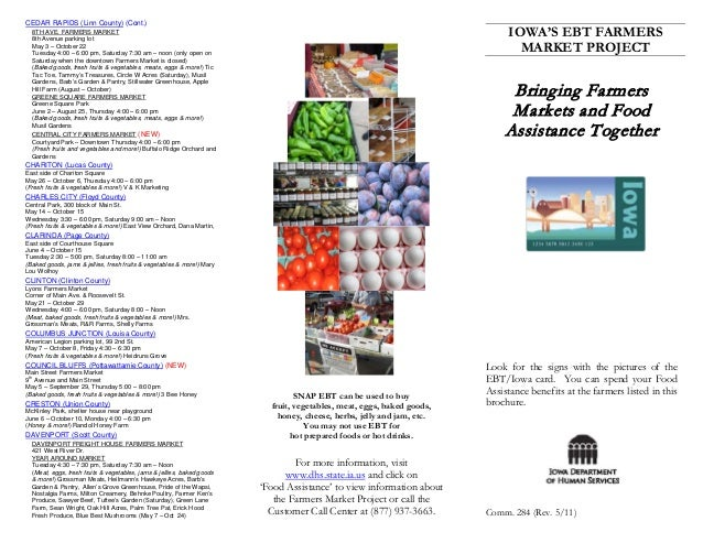 Bringing Farmers Markets and Food Assistance Together