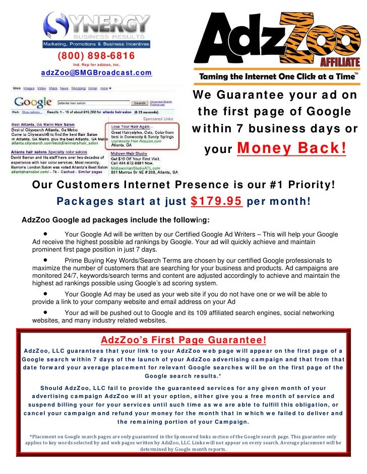 (800) 898-6816                      Ind. Rep for adzzoo, inc.         adzZoo@SMGBroadcast.com                             ...