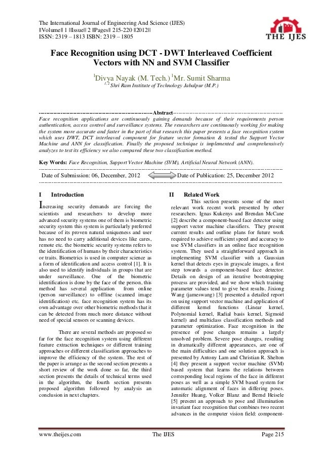 The International Journal of Engineering And Science (IJES)||Volume|| 1 ||Issue|| 2 ||Pages|| 215-220 ||2012||ISSN: 2319 –...