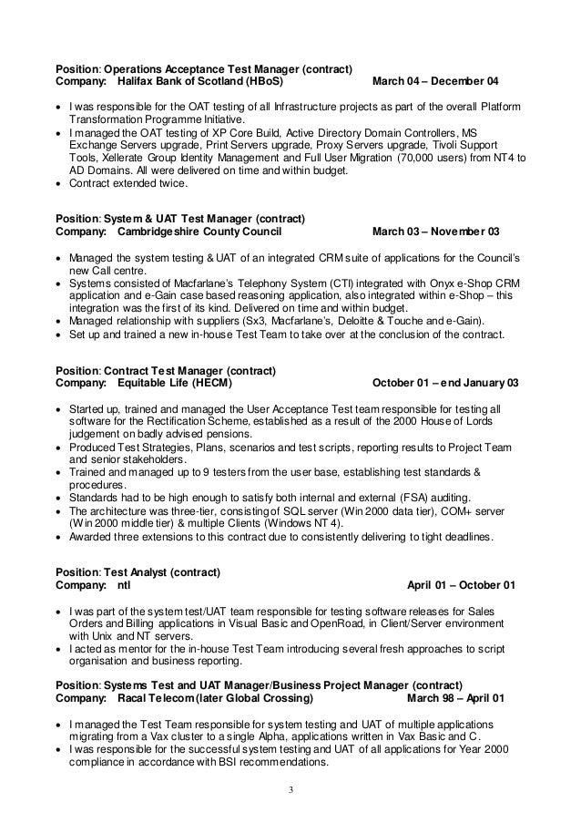 Ecommerce qa tester resume