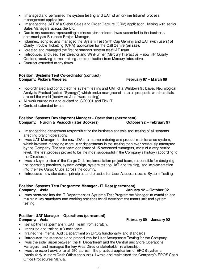 Resume Format For Software Tester Cover Letter Template For Test Alib