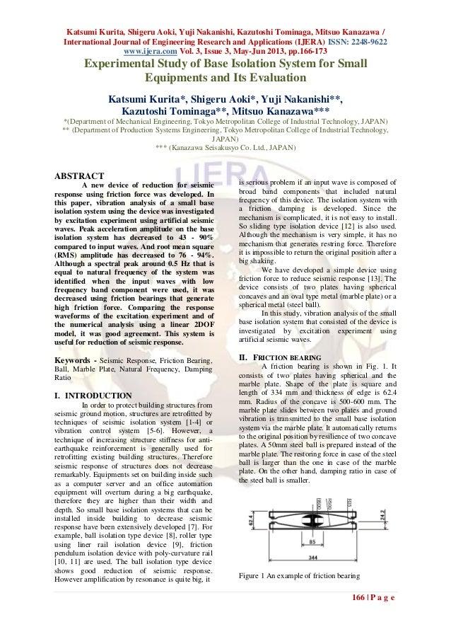 Katsumi Kurita, Shigeru Aoki, Yuji Nakanishi, Kazutoshi Tominaga, Mitsuo Kanazawa /International Journal of Engineering Re...