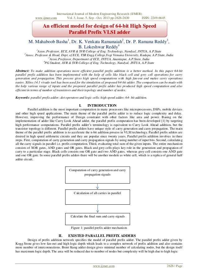 International Journal of Modern Engineering Research (IJMER) www.ijmer.com Vol. 3, Issue. 5, Sep - Oct. 2013 pp-2626-2630 ...