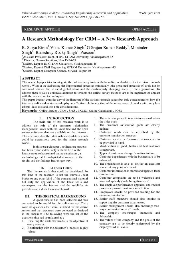 Vikas Kumar Singh et al Int. Journal of Engineering Research and Application ISSN : 2248-9622, Vol. 3, Issue 5, Sep-Oct 20...