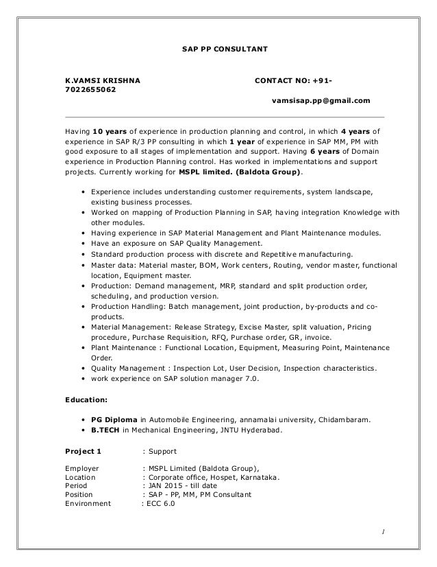 Sap resume writing services
