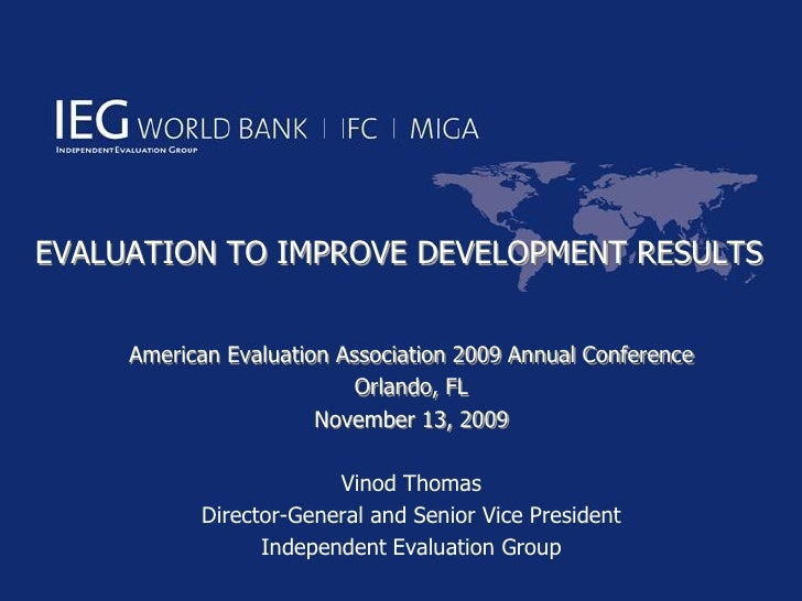 Evaluation to Improve Development Results
