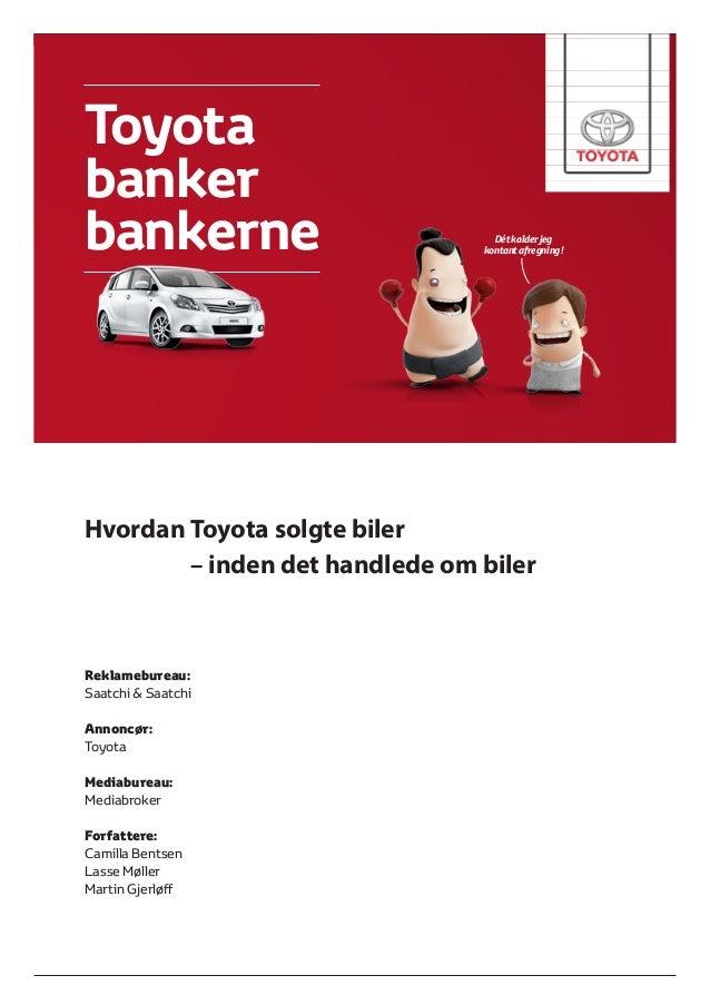 Toyota Banker Bankerne AEA Case 2013