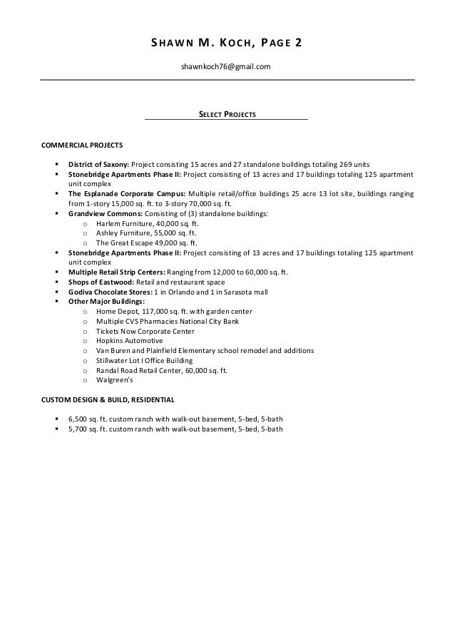 linkedin project manager and superintendent resume 42474583