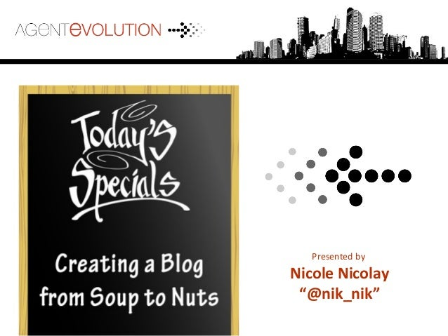 "Presented by Nicole Nicolay ""@nik_nik"""