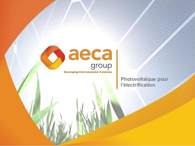 Developing Environmental Solutions Photovoltaïque pour l'électrification
