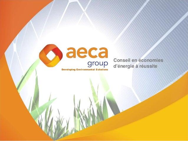 Developing Environmental Solutions Conseil en économies d'énergie à réussite