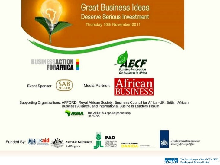 Introduction to the Africa Enterprise Challenge Fund (AECF)