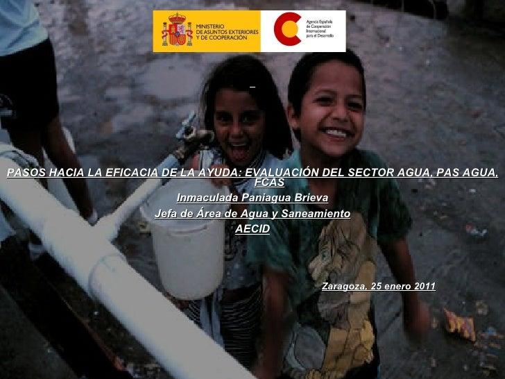 Un paso hacia la eficacia de la ayuda - Plan de Agua y Saneamiento de la Agencia Española de Cooperación Internacional al Desarrollo (AECID)