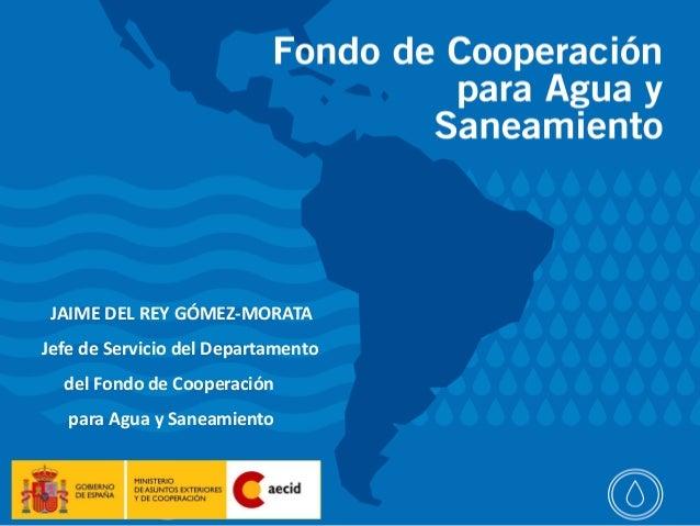 Sector agua y                                    saneamiento JAIME DEL REY GÓMEZ-MORATAJefe de Servicio del Departamento  ...