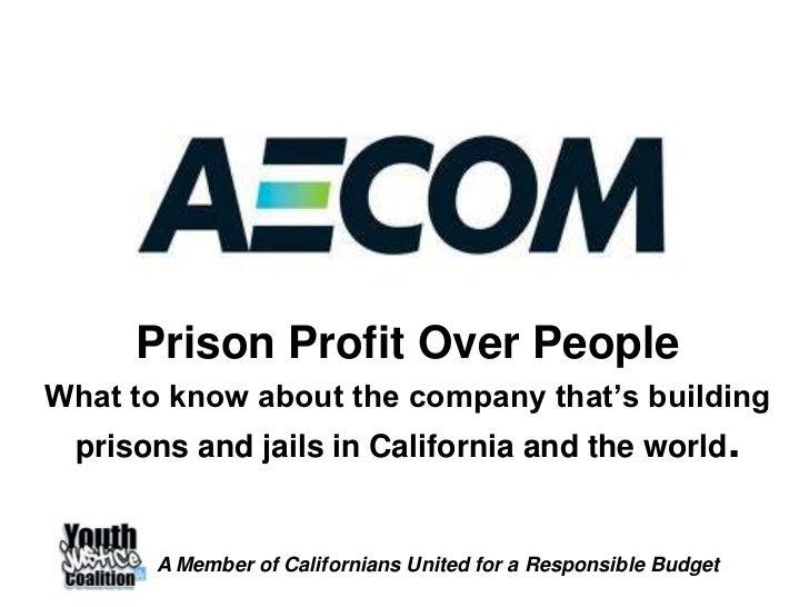 AECOM: Prison Profit Over People
