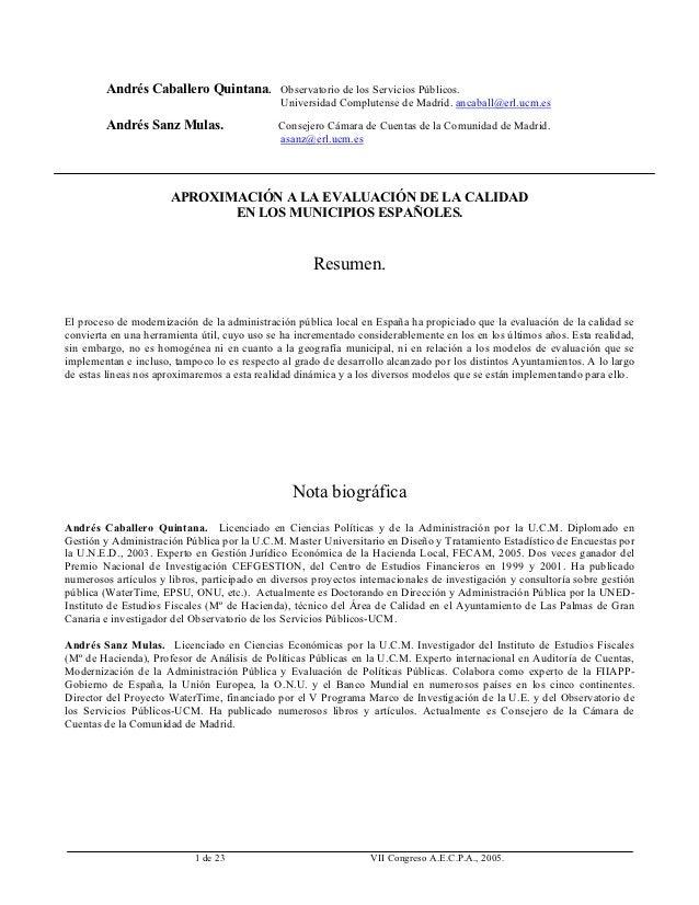 Andrés Caballero Quintana. Observatorio de los Servicios Públicos.                                               Universid...
