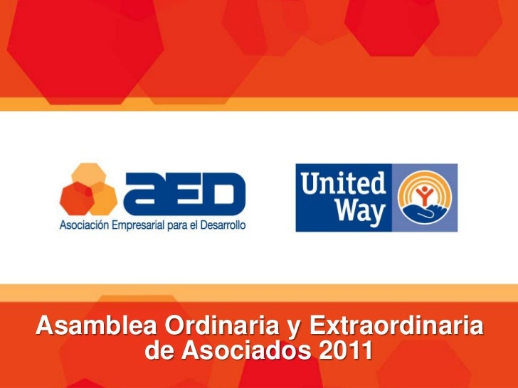 Informe Anual, AED 2011