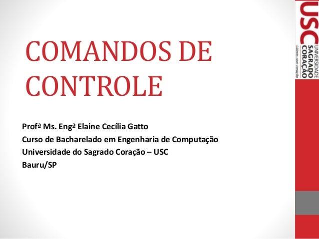 COMANDOS DE CONTROLE Profª Ms. Engª Elaine Cecília Gatto Curso de Bacharelado em Engenharia de Computação Universidade do ...