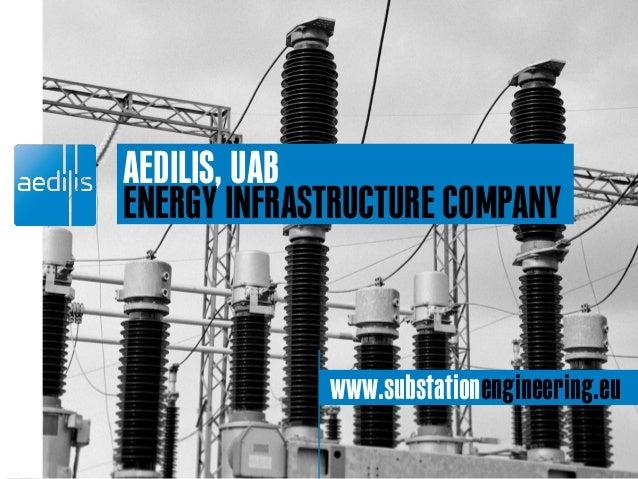 AEDILIS, UAB ENERGY INFRASTRUCTURE COMPANY www.substationengineering.eu