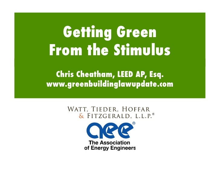 Getting Green From the Stimulus