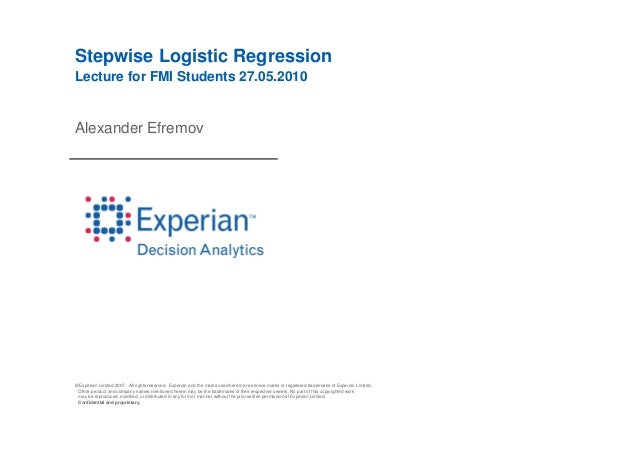 © Experian Limited 2007. All rights reserved. Experian and the marks used herein are service marks or registered trademark...