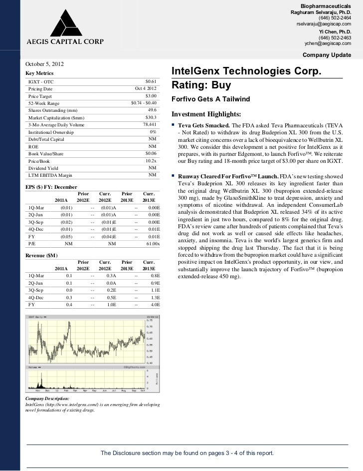 Aegis Capital Corp Update - Oct. 5, 2012