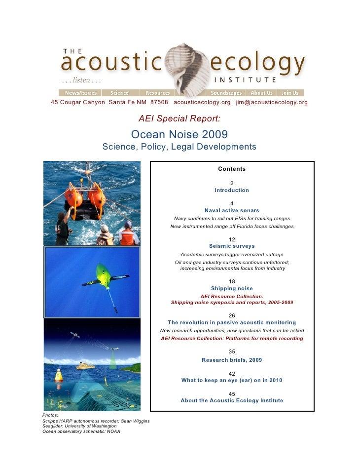 45 Cougar Canyon Santa Fe NM 87508 acousticecology.org jim@acousticecology.org                                           A...