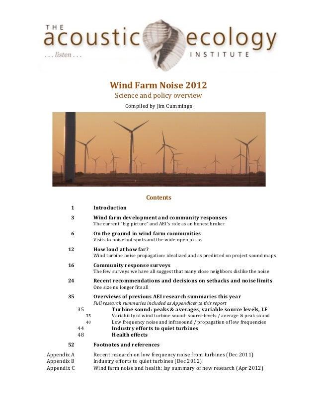 Wind Farm Noise 2012                         ...