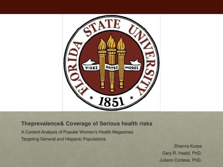 The Prevalence and Coverage of Serious Health Risks in Popular Women's Magazines