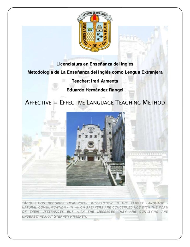 Affective effective language english language teaching method