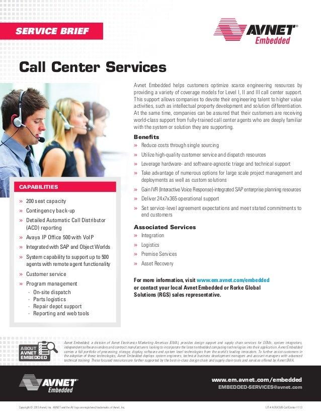 Avnet Service Brief: Call Center Services