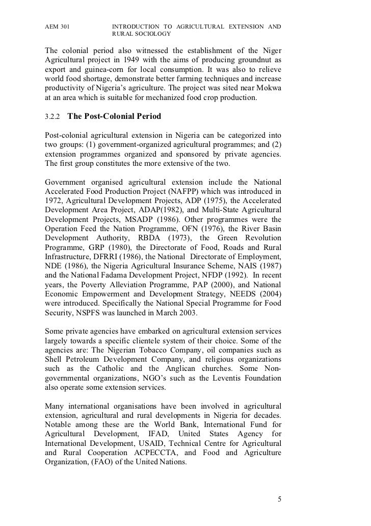 history of agricultural extension Extension, agriculture, advisory, rural history of extension and the enabling / disabling environment for the philippines agricultural extension system.