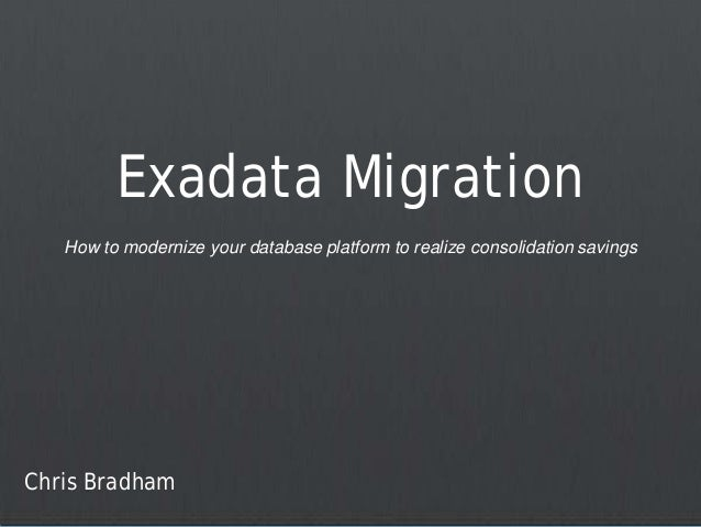 How to Modernize Your Database Platform to Realize Consolidation Savings
