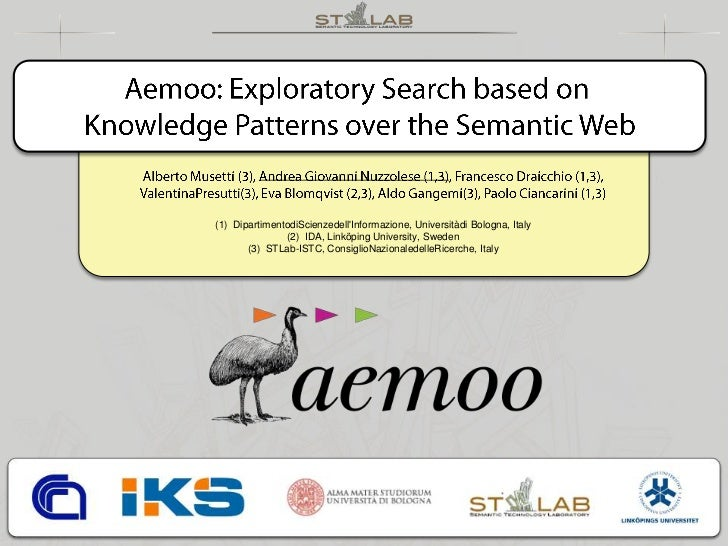 Aemoo:  exploratory search based on knowledge patterns over the Semantic Web