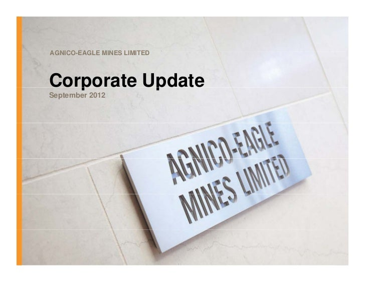 AEM September 2012 Corporate Update