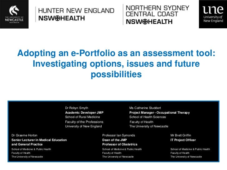Adopting an e-Portfolio as an assessment tool:       Investigating options, issues and future                     possibil...