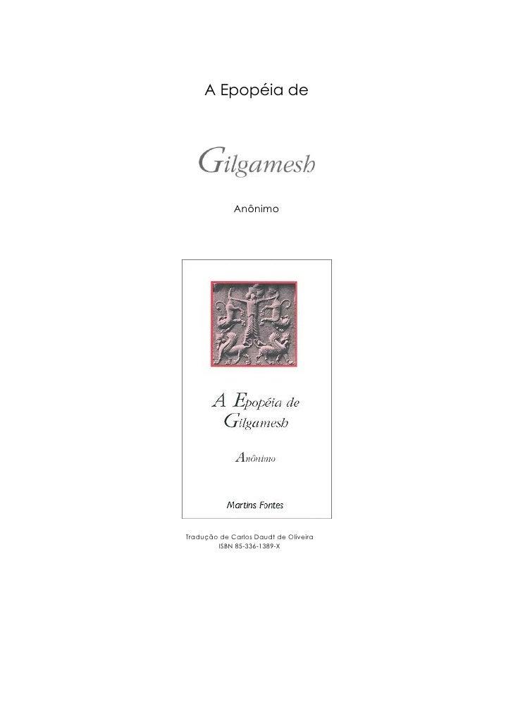 A EpopéIa De Gilgamesh (Rev)   Anonimo
