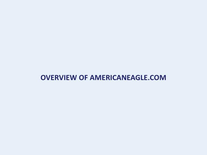 OVERVIEW OF AMERICANEAGLE.COM