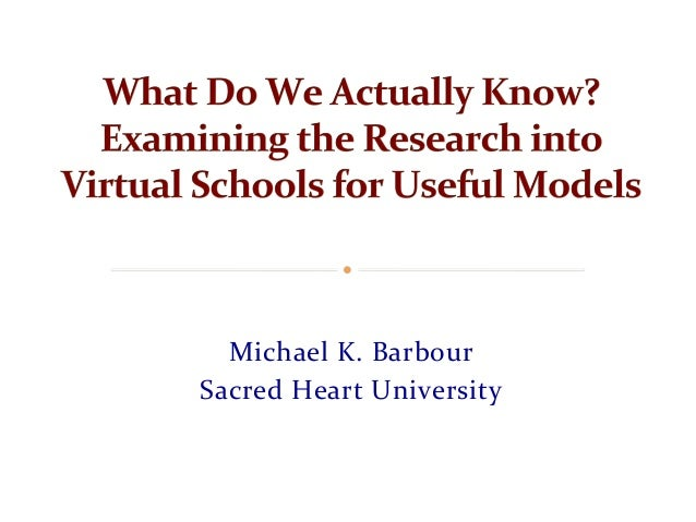 Michael	   K.	   Barbour	    Sacred	   Heart	   University