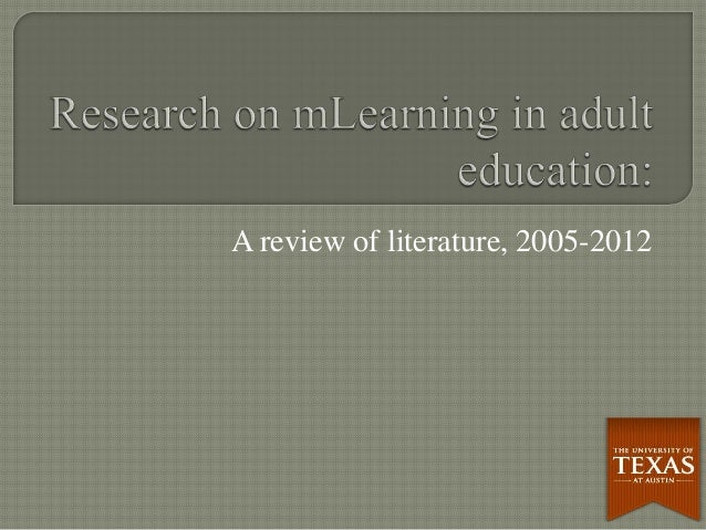 A review of literature, 2005-2012